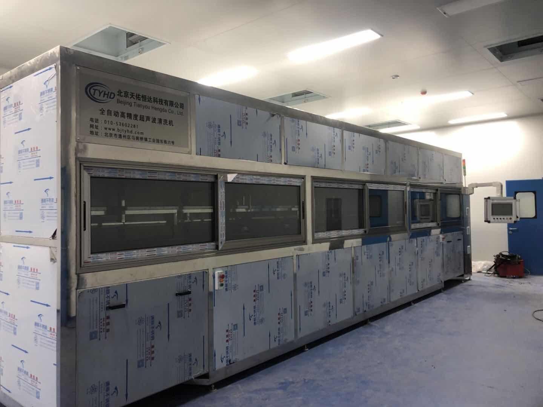 中建材光芯科技---全自动龙门式超声波清洗机